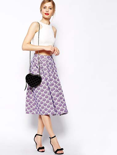 Midi Skirt in Baroque