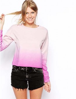 Sweatshirt In Dip Dye