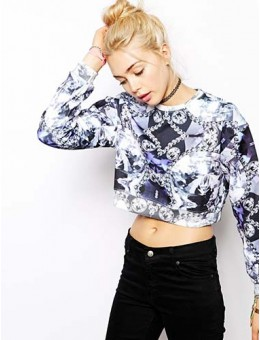 London Cropped Sweatshirt