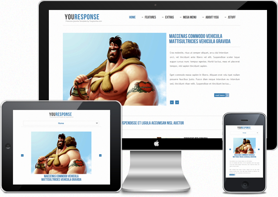 Hello my name is YouResponse I am responsive Joomla! Template