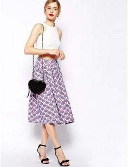 Midi Skirt in Baroque
