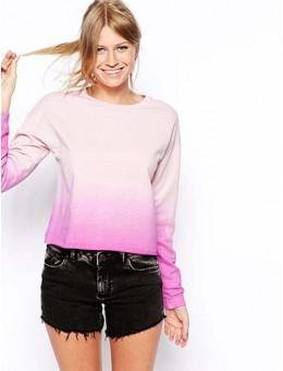 Sweatshirt In Dip Dye